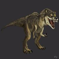 Wolfasaurus Rex by zachjacobs
