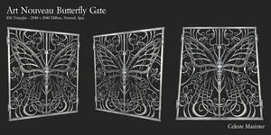Art Nouveau Butterfly Gate by SandboxAlchemy