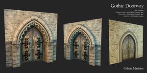 Gothic Doorway by SandboxAlchemy