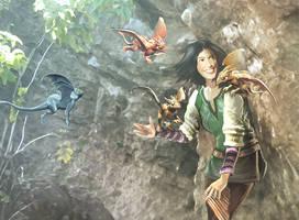 Dragonsong, Menolly Detail by SandboxAlchemy