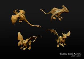 Firelizard Digital Maquette by SandboxAlchemy