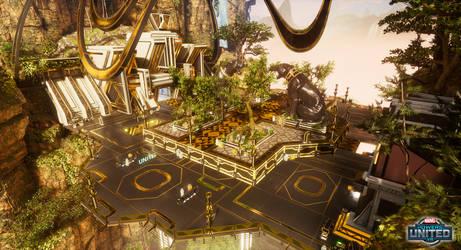 Marvel Powers United VR - Wakanda Bridge Platform by SandboxAlchemy