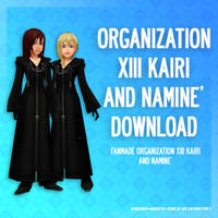 Organization XIII Kairi and Namine - DL by SnowEmbrace