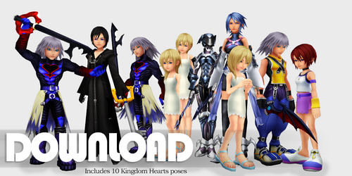 {Request} Kingdom Hearts pose pack - DL by SnowEmbrace