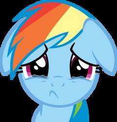 Sad Dashie by CrusierPL