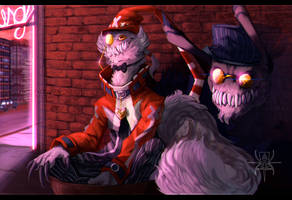 AT: Outside the Swing Club by MutantParasiteX