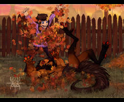 SeptemberPrompt : As Leaves Change, We Don't by MutantParasiteX