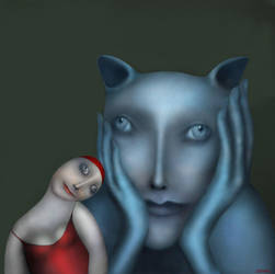 The blue cat by Bobrova