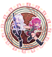 Hiroko and Yuko [Contest Entry] by Electrosion