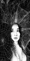 Spiders in her hair by KainMorgenmeer