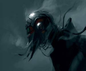 Nitrogen cyborg by JulienLasbleiz