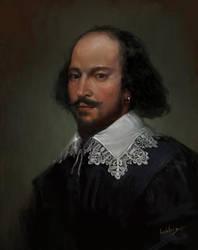 William Shakespeare - commission by JulienLasbleiz
