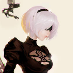 2B fanart by JulienLasbleiz