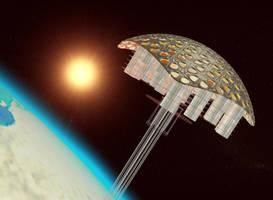 Orbital city concept by SentryKnox