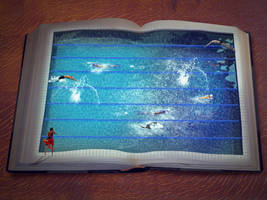 Reading and Swimming by theACB