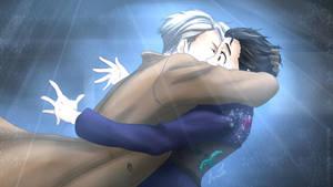 YURI ON ICE - VICTOR AND YURI KISS by Hamarith