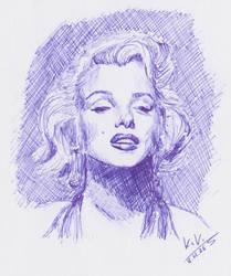 Marilyn Monroe by KittyKati