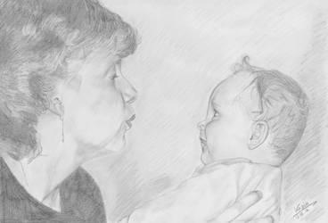 Mum and me by KittyKati