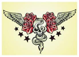 skull n snake chestpiece by mrshmllw