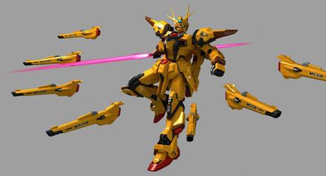 ORB-01 Akatsuki Gundam Shiranui Space Pack by Ladav01