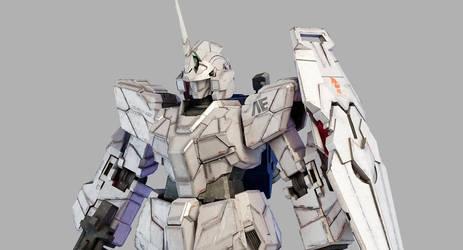 RX-0 Unicorn Gundam WIP2 by Ladav01