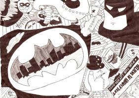 Batman collage by Nomy-chan