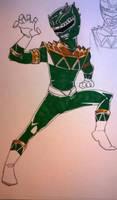 Green Raptor sketch by DynamicSavior
