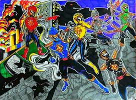 Ninjasaur Whole team by DynamicSavior
