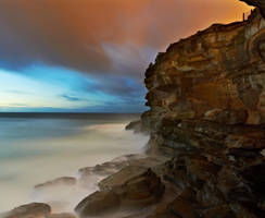 Wet cliff by MarkLucey