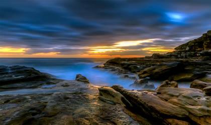 Illuminated Rock by MarkLucey