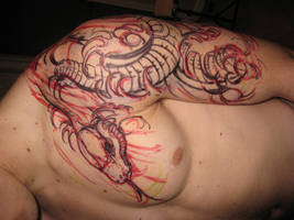 Sharpie of my snake tattoo.. by SEXYBEAST1687