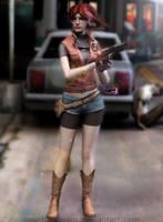 Claire in Raccoon City by NourhanNivans