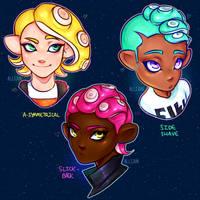 Octoling Boy Hairstyles | Fanart (?) by allijun