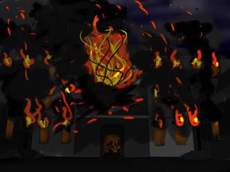 Batiment en feu by Saki-hanna