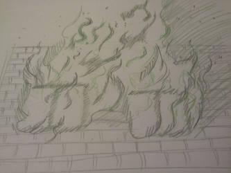on fire2 by Saki-hanna