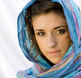 The blue scarf by B0rrach0