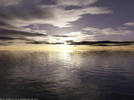 last ocean sunset by tarellex