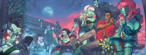 Zombies vs Hipsters by ChuckARTT