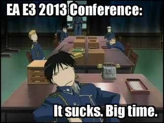 Another boring EA conference at E3 2013 by NeonKazma