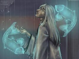 .Rain. wallpaper by Lady-Werewolf
