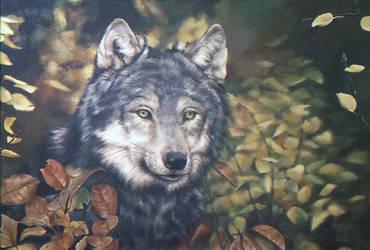 Autumn Wolf by Lady-Werewolf