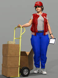 Delivery girl test by Posyomismo