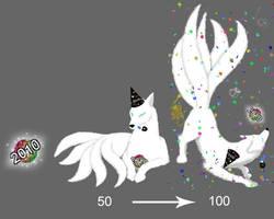 Squiby Kitsune - New Year 2010 by Gingitsune-Lady-Fox