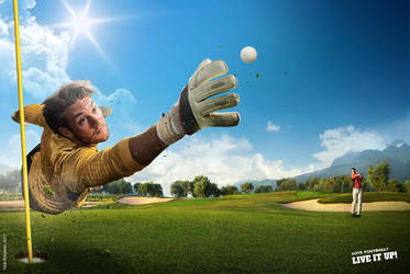 Love Football? LIVE IT UP! - Golf Version by pepey