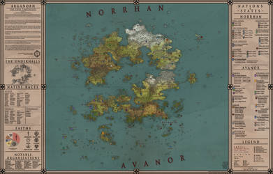 Arganorh - Twin-Continents Map by Levodoom
