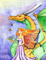 Dragon Fairy Godmother by The-GoblinQueen