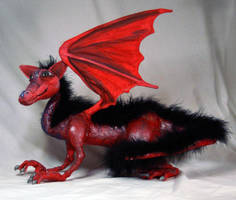 Red Shoulder Dragon Plush by The-GoblinQueen