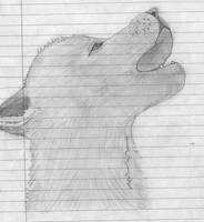 Wolf Pup Howling by Icegoddesswolf16