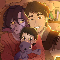 Kogane Family by NiftyNightOwl