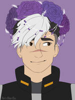 Flower crown Shiro by NiftyNightOwl
